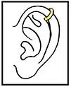 Piercing orecchie Helix milano